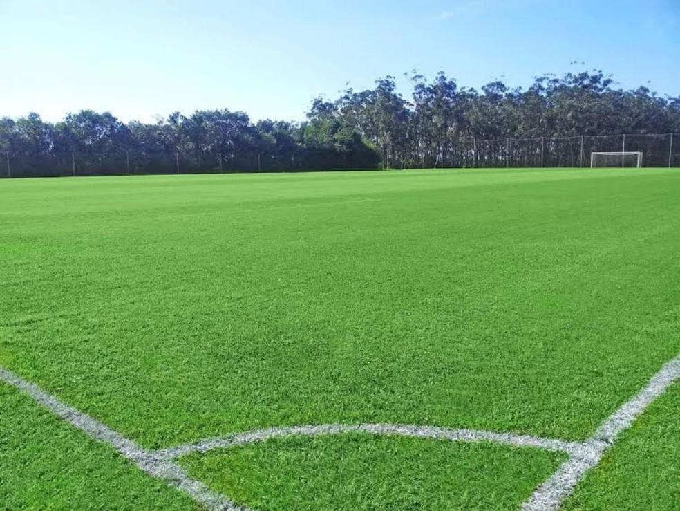 Campo padrão Fifa foi usado como CT do Equador em 2014 — Foto: Divulgação