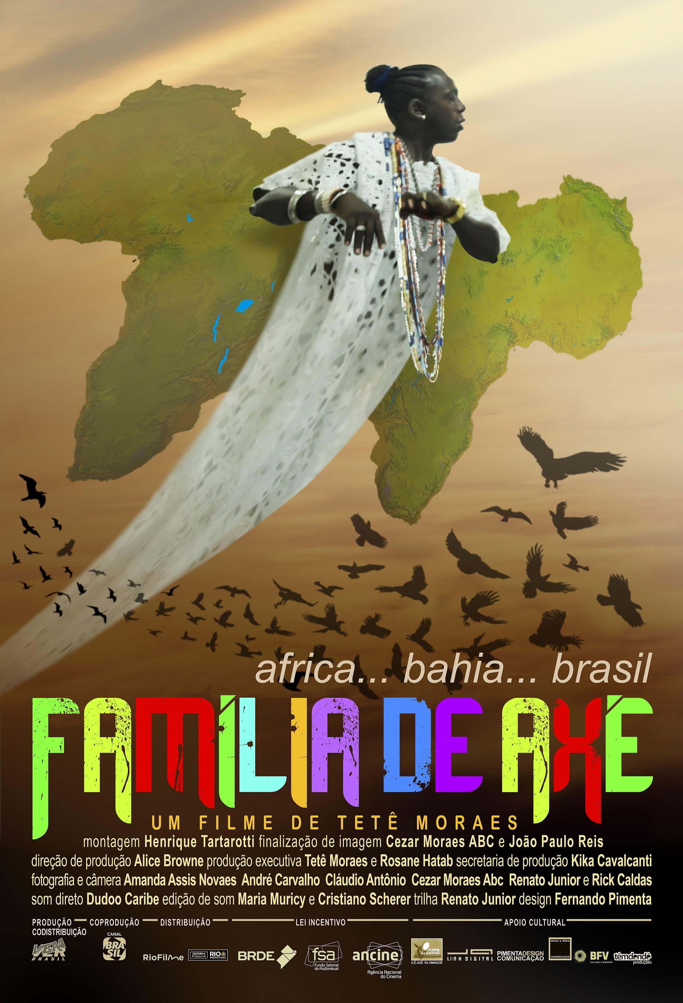 """O cartaz de """"Família de Axé"""" , que estreia na próxima semana, traz a assinatura de Fernando Pimenta, o mais importante artista brasileiro do gênero"""