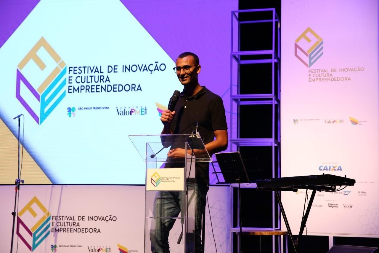O empreendedor social Edu Lyra participa do Festival de Inovação e Cultura Empreendedora (Foto: Alexandre DiPaula/Época NEGÓCIOS)
