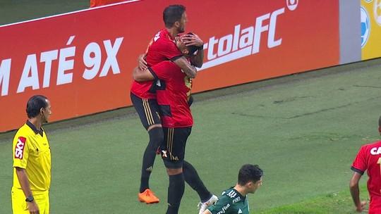 Sport arranca virada sobre o Palmeiras na arena: veja os gols