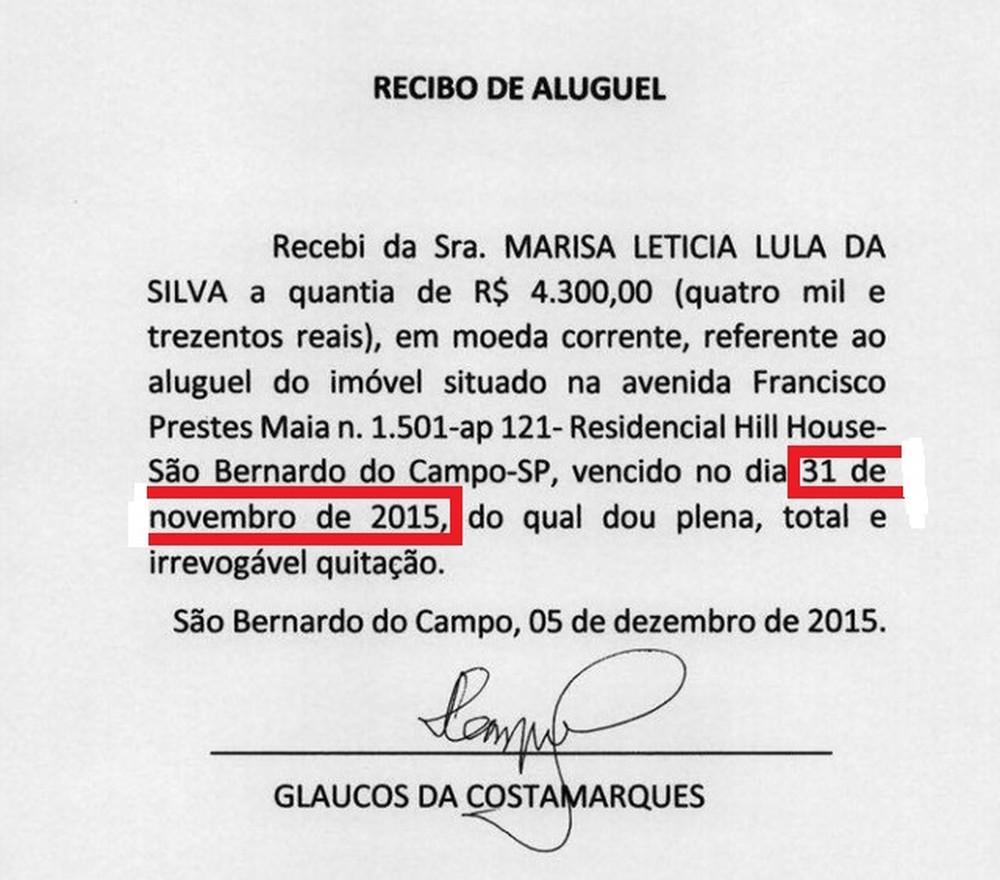 MPF questiona veracidade de recibos apresentados por Lula