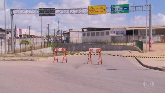 Túnel na Zona Sul do Recife tem acesso de veículos interditado devido a 'problemas estruturais'