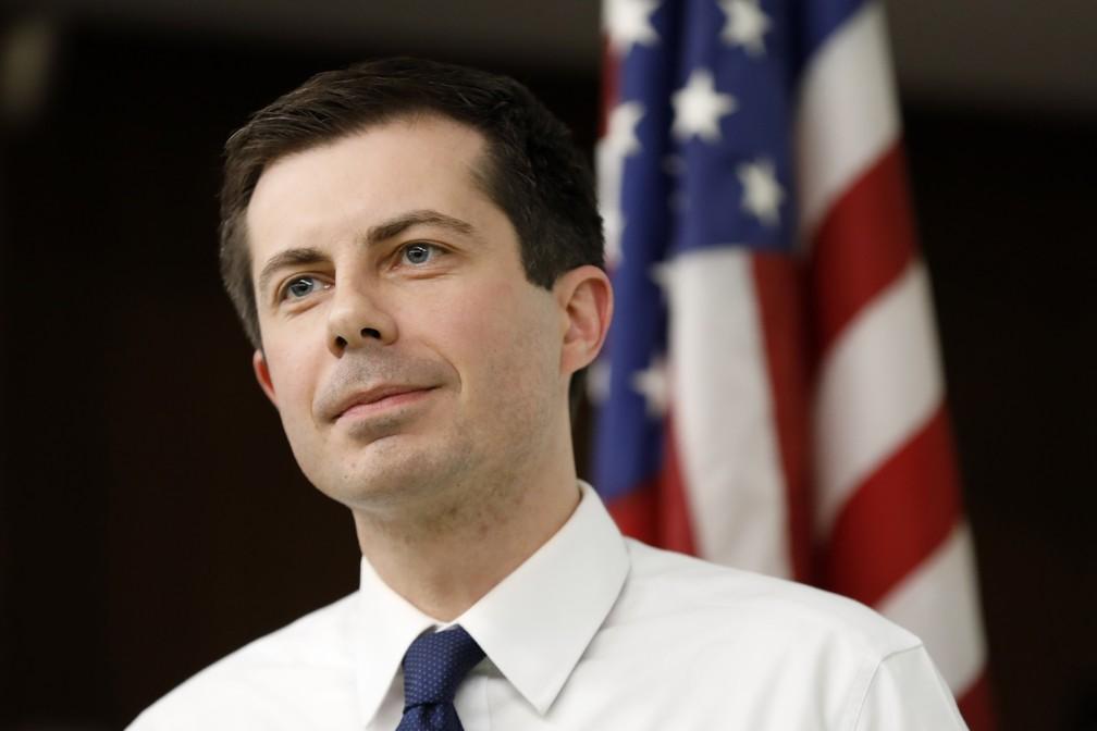 O pré-candidato democrata Pete Buttigieg. — Foto: Charlie Neibergall/AP