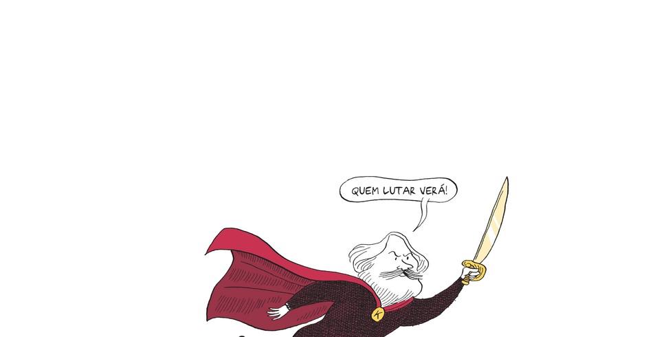 Ilustração da HQ Marx: uma biografia em quadrinhos (Editora Boitempo) (Foto: Reprodução)