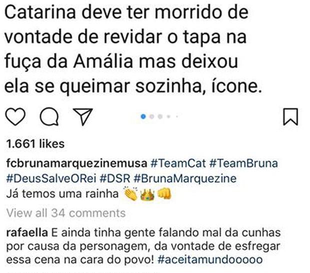 O comentário de Rafaella, irmã de Neymar (Foto: Reprodução Instagram)