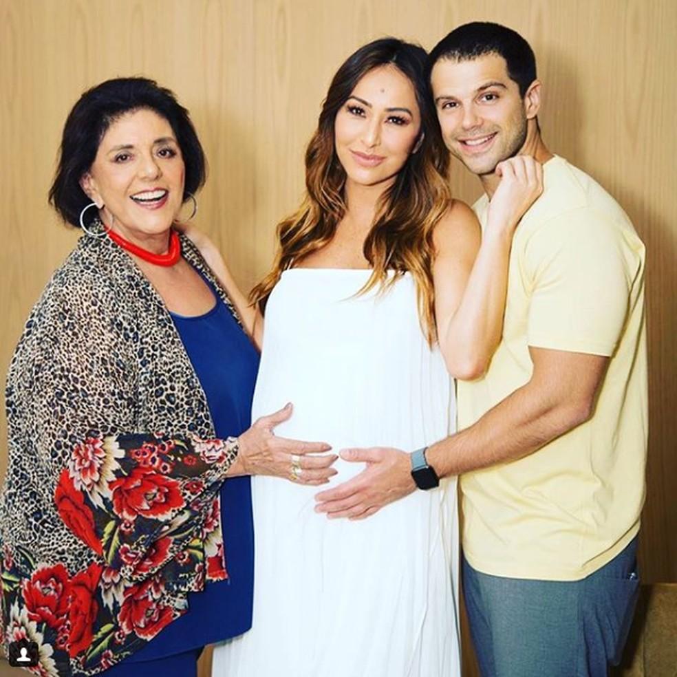 Leda Nagle estava ansiosa para o nascimento da primeira neta Zoe — Foto: Reprodução Instagram Leda Nagle