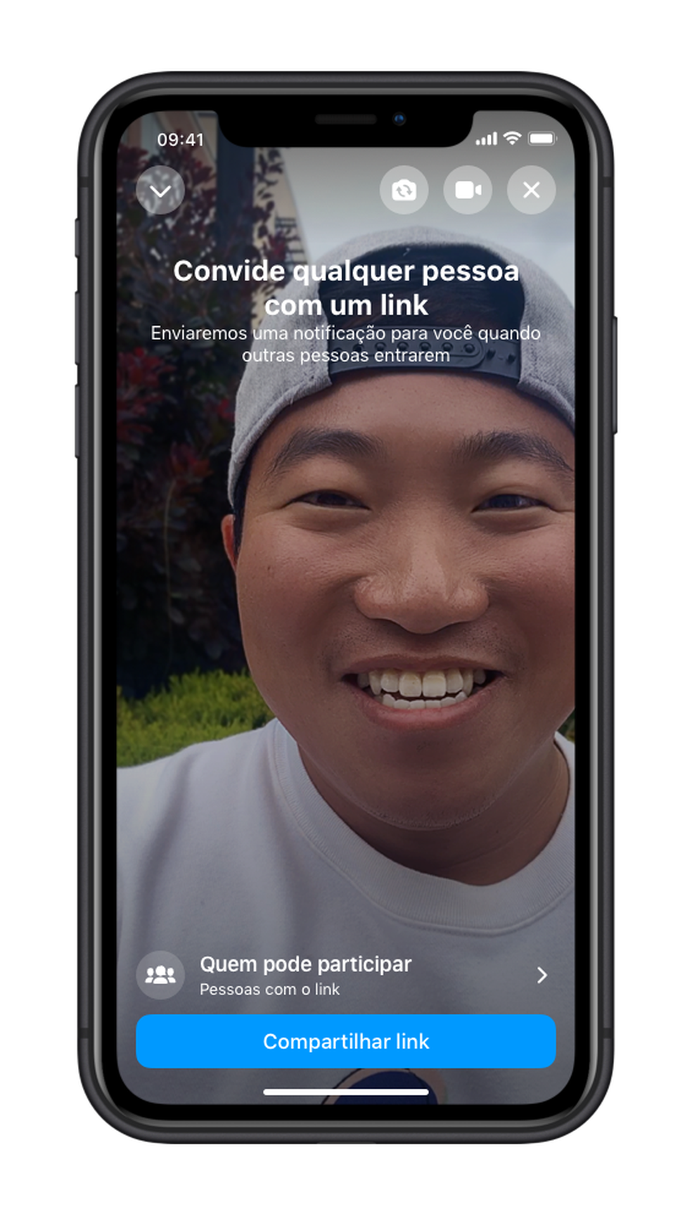 Facebook lança recurso Rooms para o Messenger, buscando facilitar acesso a chamadas em vídeo. — Foto: Divulgação/Facebook