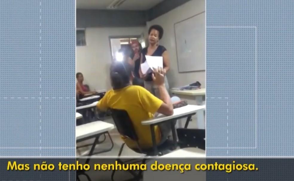 Professora da URFB denuncia racismo  de aluno que recusou receber prova em sala de aula — Foto: Reprodução/TV Bahia