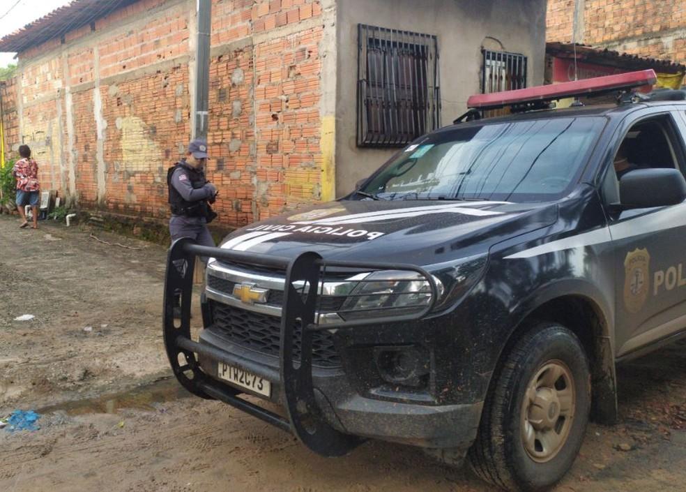 Suspeitos de roubos e homicídios são presos durante operação em São José de Ribamar — Foto: Divulgação/Polícia Civil do Maranhão.