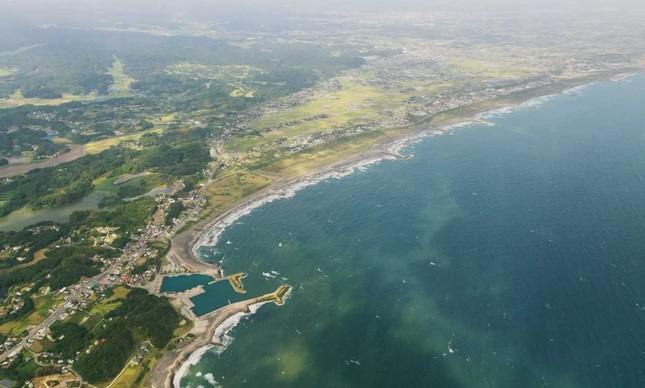 A praia de Tsurigasaki, que vai receber o surfe nas Olimpíadas
