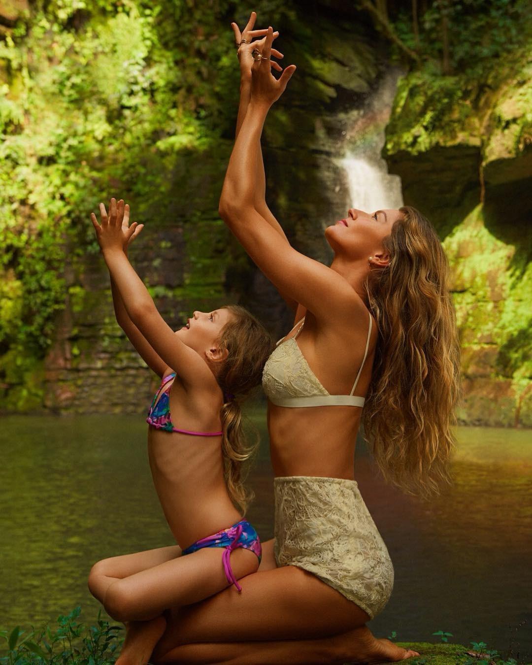 Gisele e filha (Foto: Reprodução)
