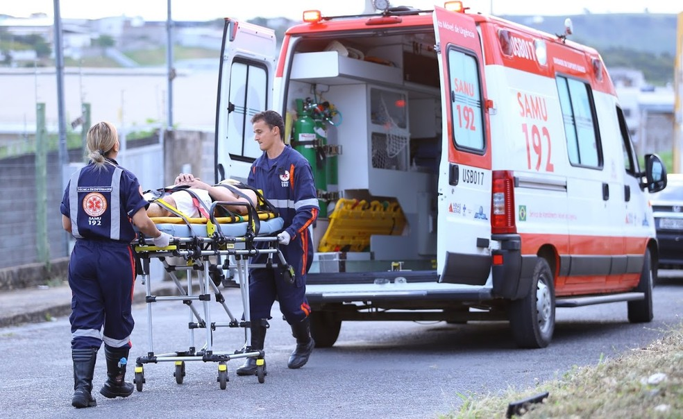 -  O jovem foi socorrido após se envolver emm acidente em Formiga  Foto: Samu/Divulgação
