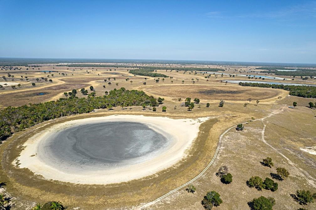 Salinas do Pantanal e a seca na região da Nhecolândia, no Mato Grosso do Sul, em agosto de 2021 — Foto: Ricardo Martins