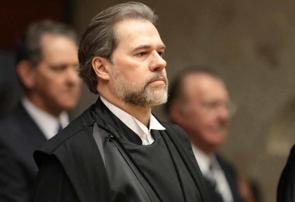 O ministro Dias Toffoli, durante a posse como novo presidente do STF — Foto: Flickr/CNJ