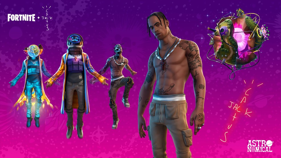 Fortnite in partnership with Travis Scott. (Image: Epic Games)