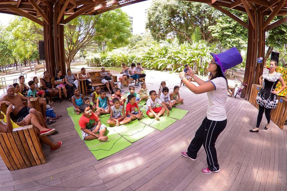 Econúcleo Jaqueira, no Recife, tem atrações para o público infantil  (Foto: Daniel Tavares/PCR/Divulgação)