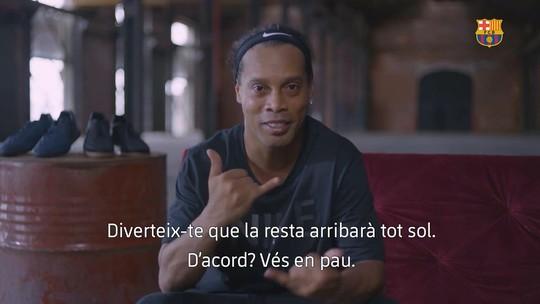 """Ronaldinho deseja sorte a Coutinho no Barça: """"Enche esse povo de alegria"""""""