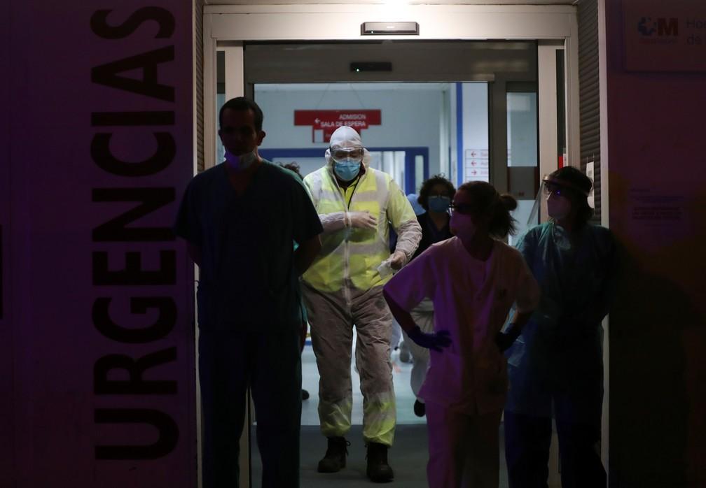 Imagem do hospital La Princesa em Madri, no dia 25 de março de 2020 — Foto: Susana Vera/Reuters