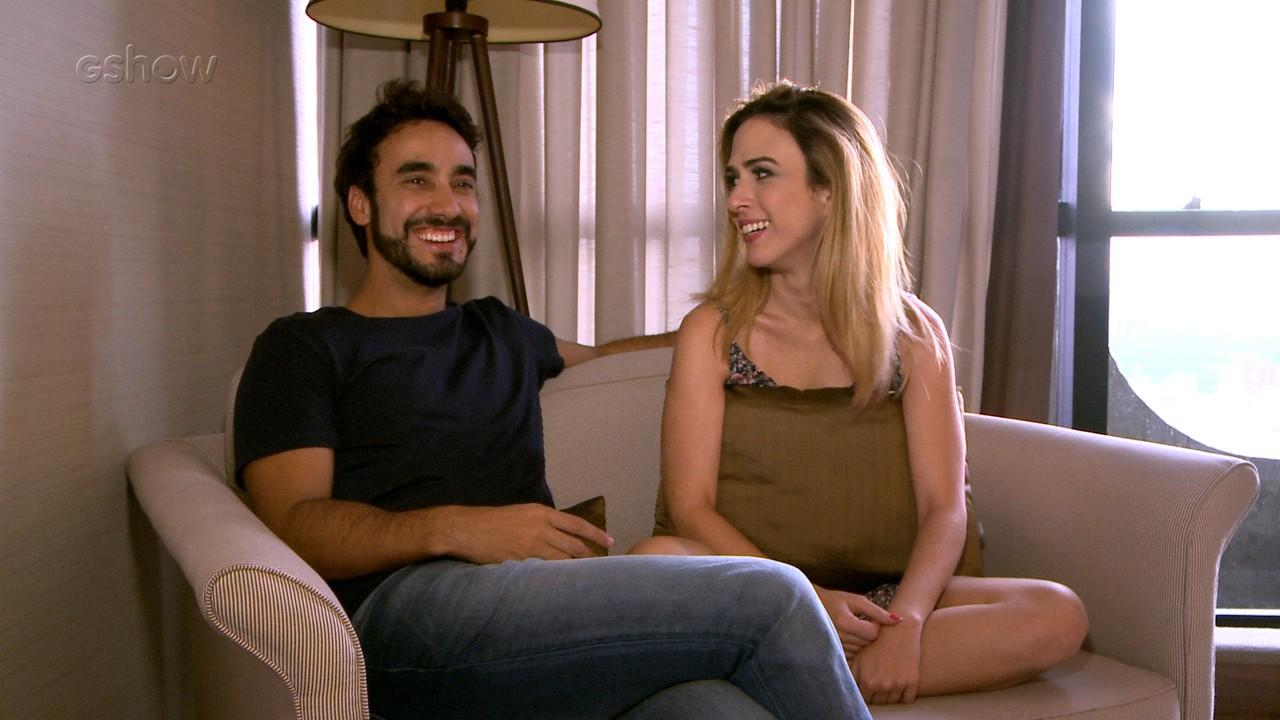 Tatá Werneck e Gabriel Godoy falam de par romântico em 'Haja Coração'
