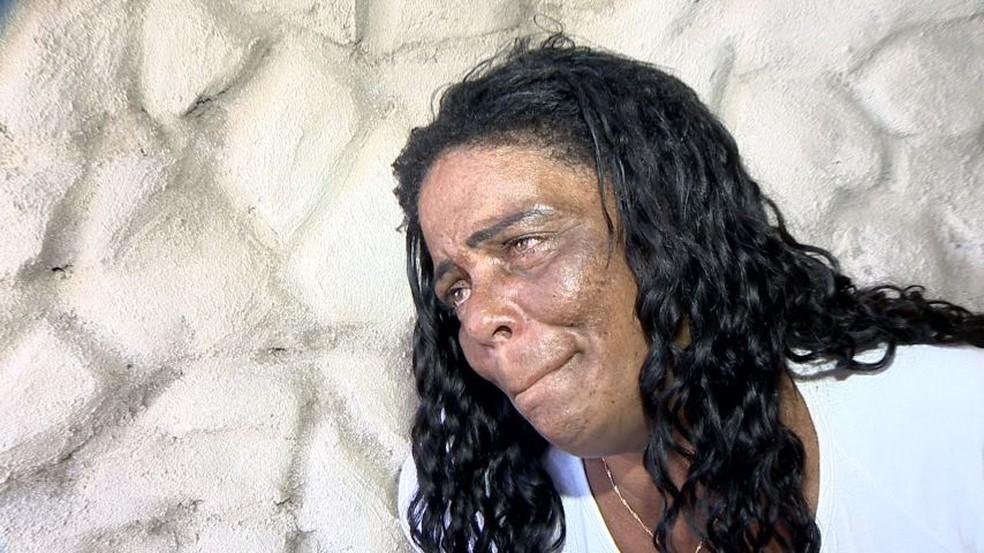 Clemilda de Jesus, mãe da menina Thayná de Jesus Prado (Foto: Reprodução/TV Gazeta)