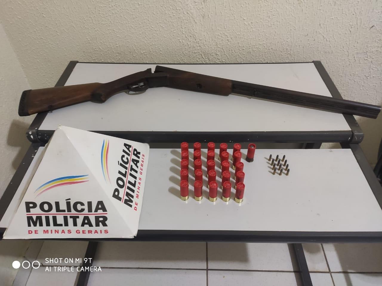 Homem é preso após ameaçar a esposa com escopeta em Governador Valadares