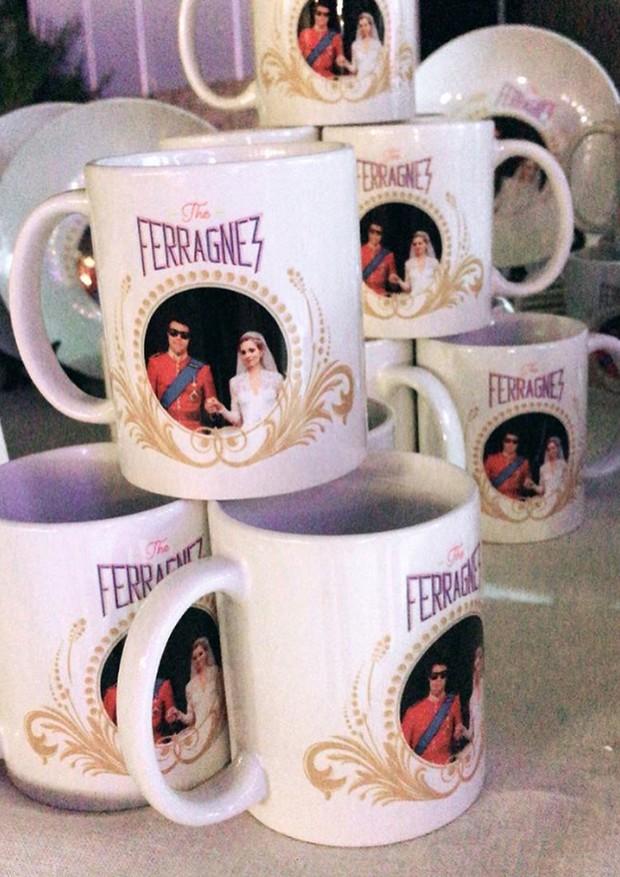 Canecas personalizadas do casamento #TheFerragnez (Foto: Reprodução/ Instagram)