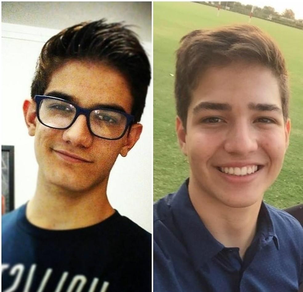 Os jovens Eduardo Brandão e Henrique Pini Maniglia morreram em capotagem em Franca (Foto: Reprodução/Facebook)