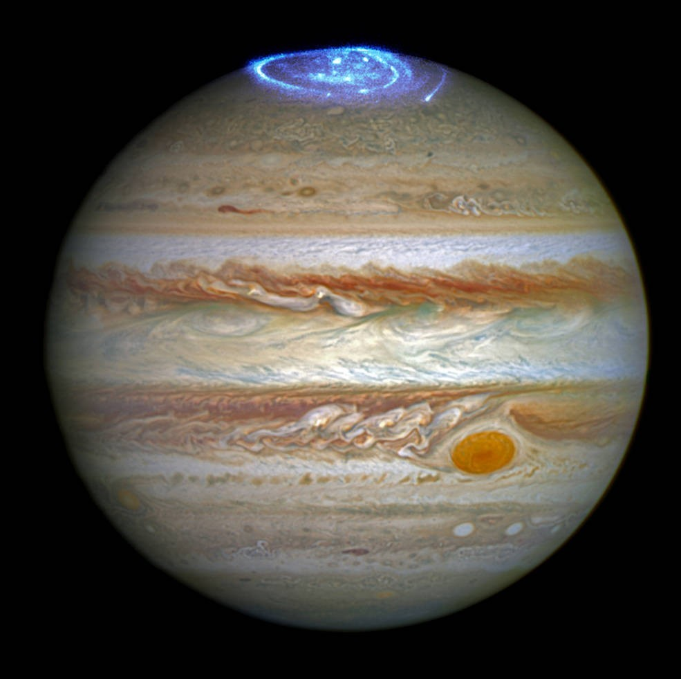 Telescópio Hubble captura imagens inéditas da aurora boreal de Júpiter |  Ciência e Saúde | G1