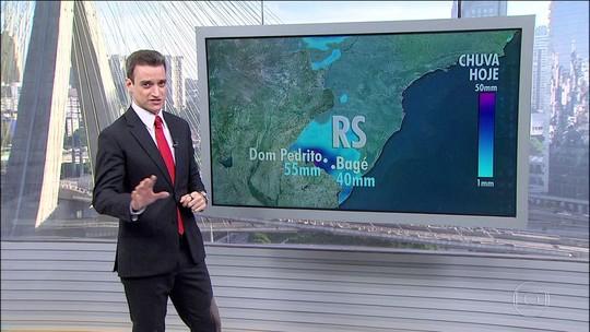 Rio Grande do Sul volta a ter chuvas