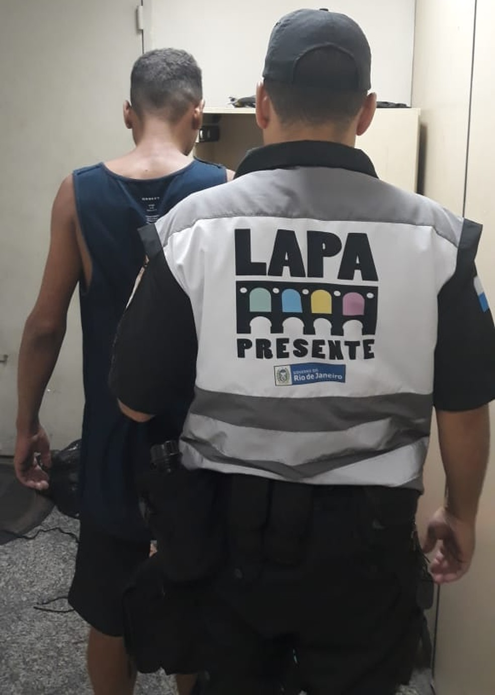 Adeilto Santana Oliveira tinha mandado de prisão em aberto pela morte de Matheus Lessa em Barra da Guaratiba, na Zona Oeste do Rio — Foto: Divulgação/ Lapa Presente
