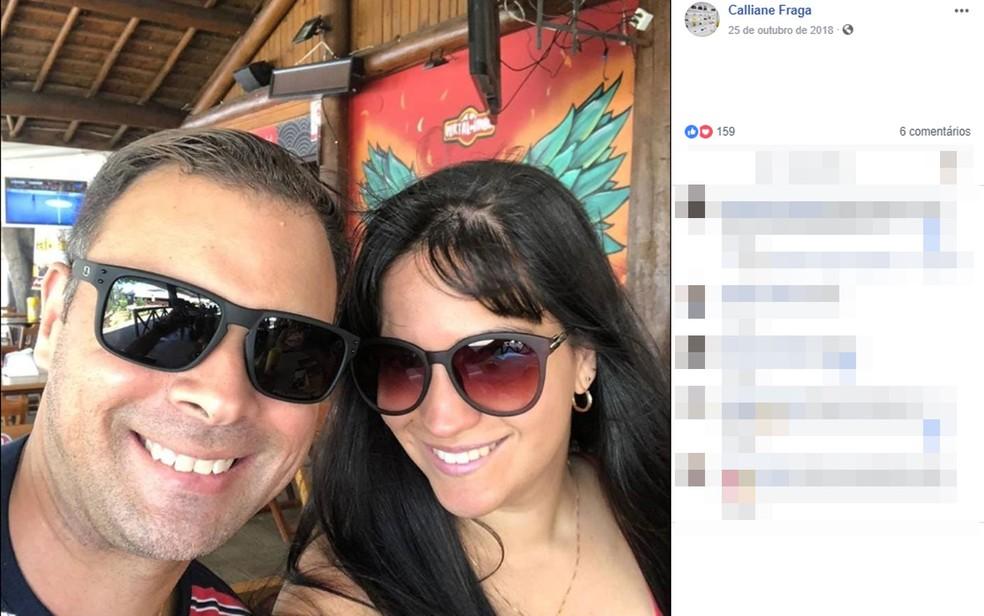 Daniel Macedo, advogado, matou a esposa, que era dona de uma loja, Callilane Fraga, a tiros na Bahia — Foto: Reprodução/ Facebook