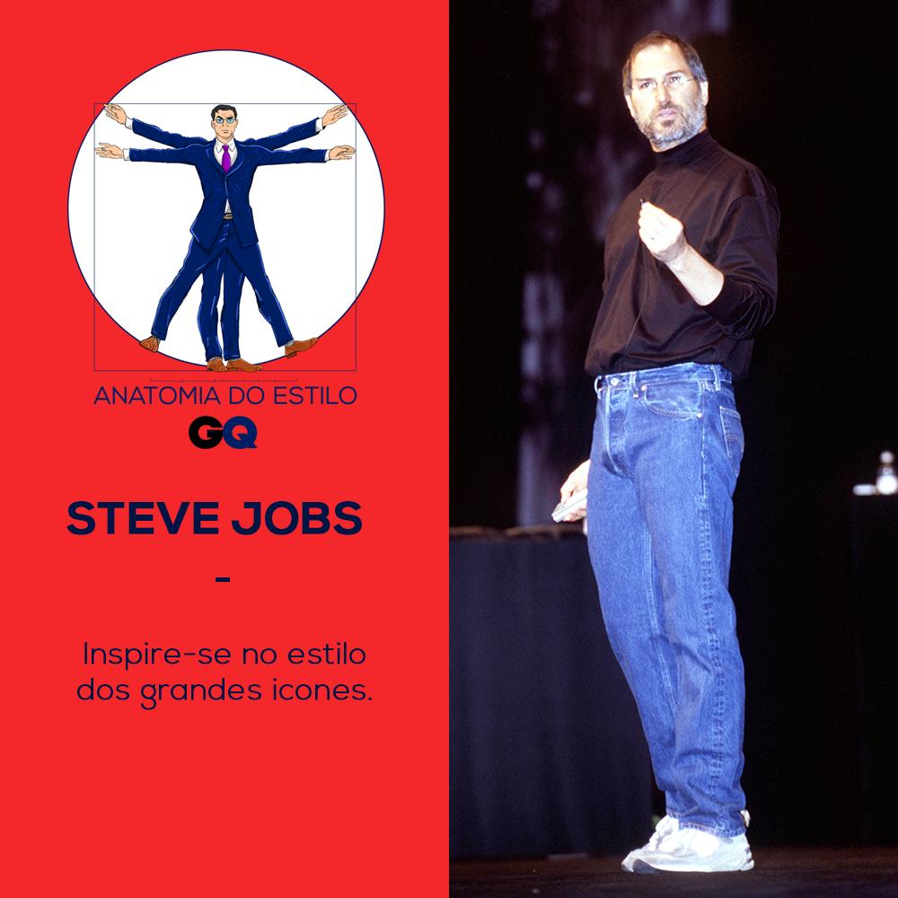 Steve Jobs tem a fórmula mágica do estilo casual retrô  (Foto: Getty Images)