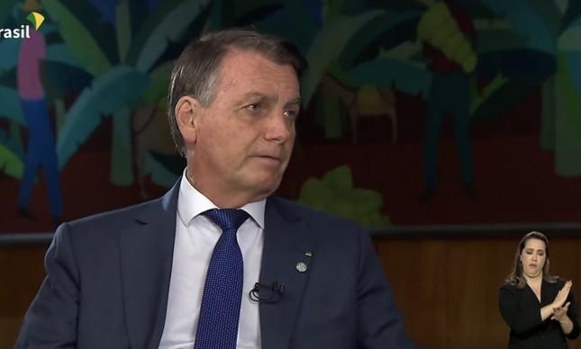Jair Bolsonaro em entrevista à TV Brasil: sem perguntas incômodas