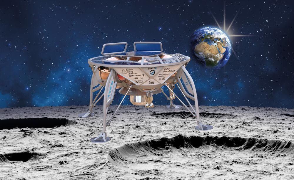 A espaçonave da SpaceIL deverá ser lançada a partir da base de Cabo Canaveral, na Flórida, no próximo mês (Foto: Divulgação)