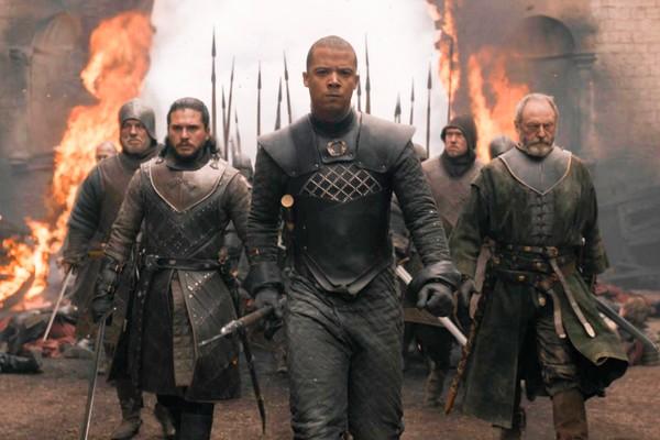Uma cena de um dos últimos episódios da oitava temporada de Game of Thrones (Foto: Reprodução)
