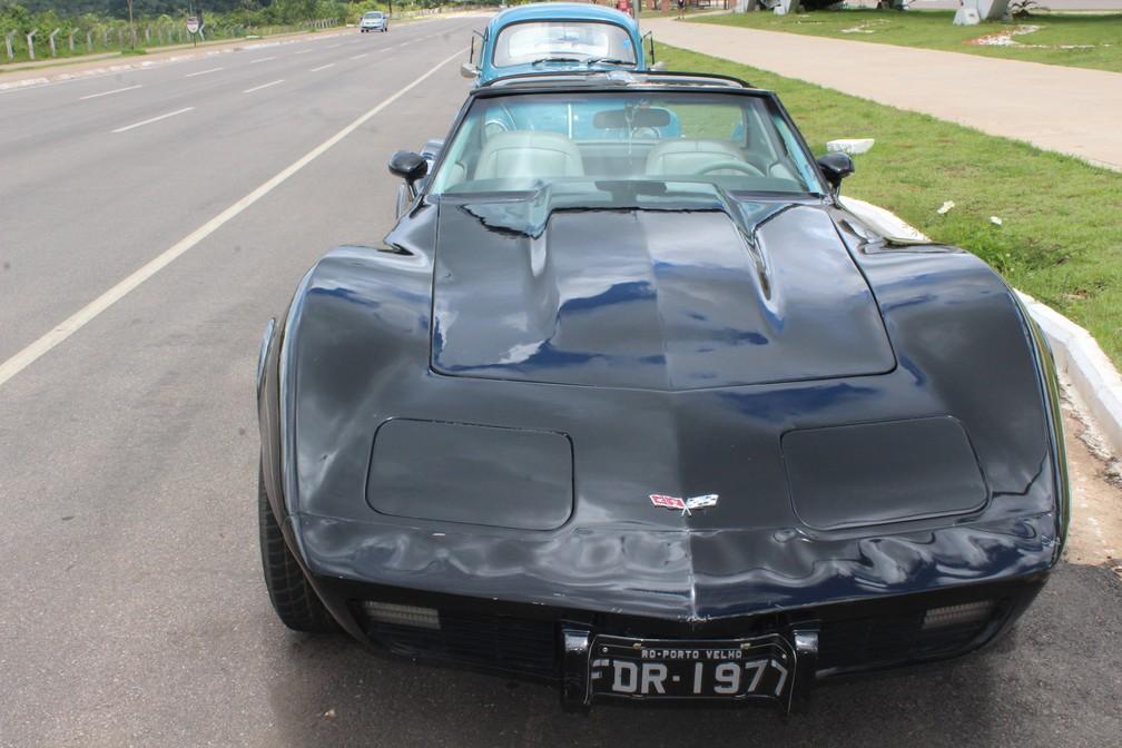 Corvette também estava entre os modelos — Foto: Cássia Firmino/ G1
