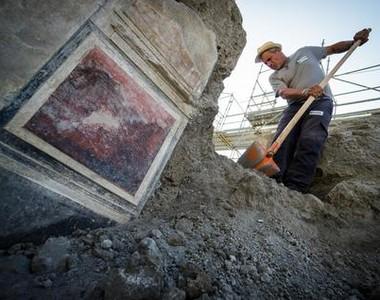 Casa 'vintage' é a nova descoberta arqueológica de Pompeia (Foto: Agência ANSA)