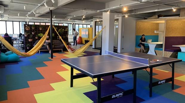 Nova sede da moObie. Equipe passou de 10 para 35 pessoas (Foto: Divulgação/moObie)
