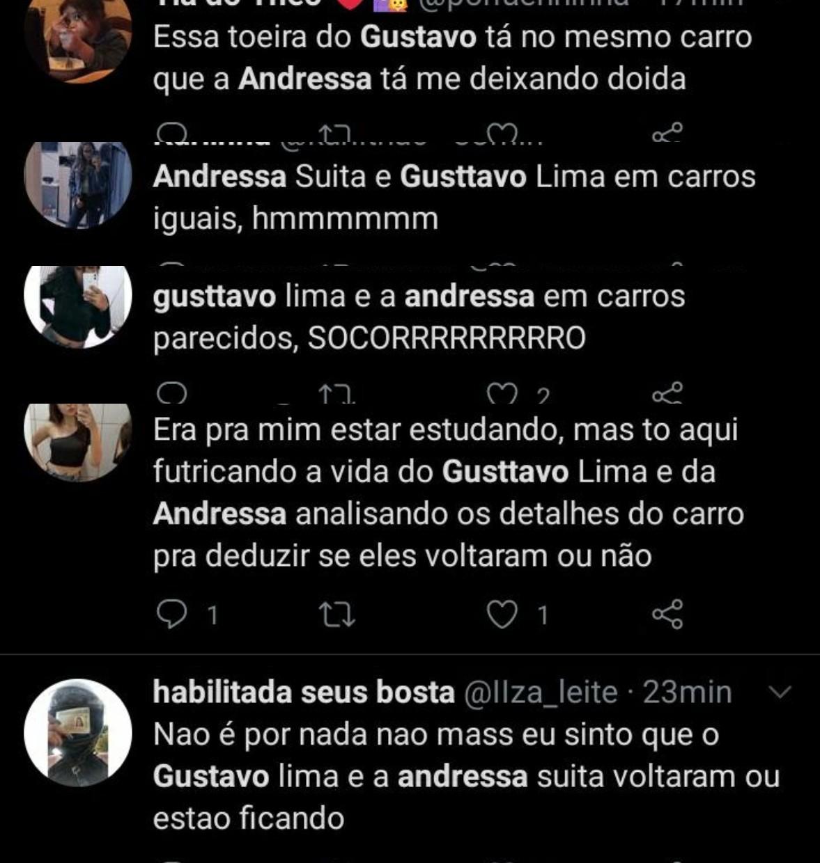 Fãs sobre Gusttavo Lima e Andressa Suita (Foto: Reprodução/Instagram)