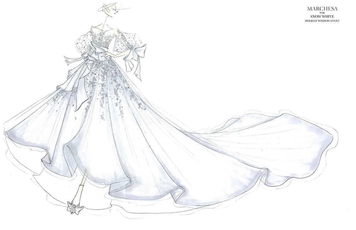 Vestido Branca de Neve por Marchesa