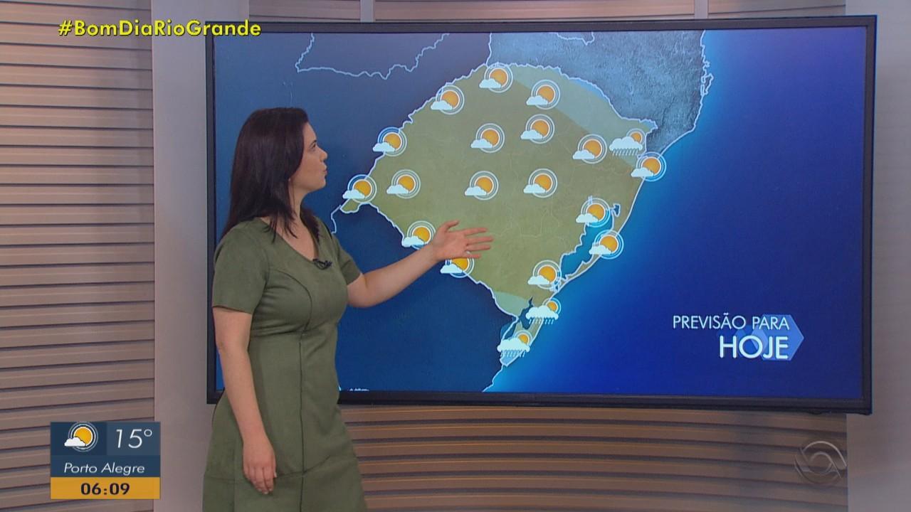 Sol aparece em todas as regiões do RS nesta quarta-feira (18)