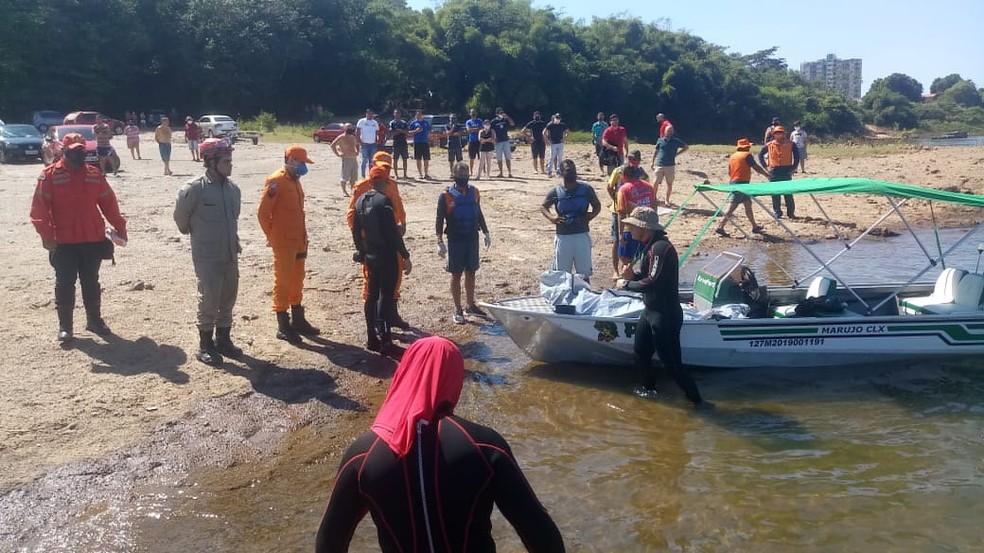 Corpo de Isaac Ramos foi encontrado na manhã deste domingo (28) no Rio Tocantins em Imperatriz — Foto: Divulgação/Corpo de Bombeiros