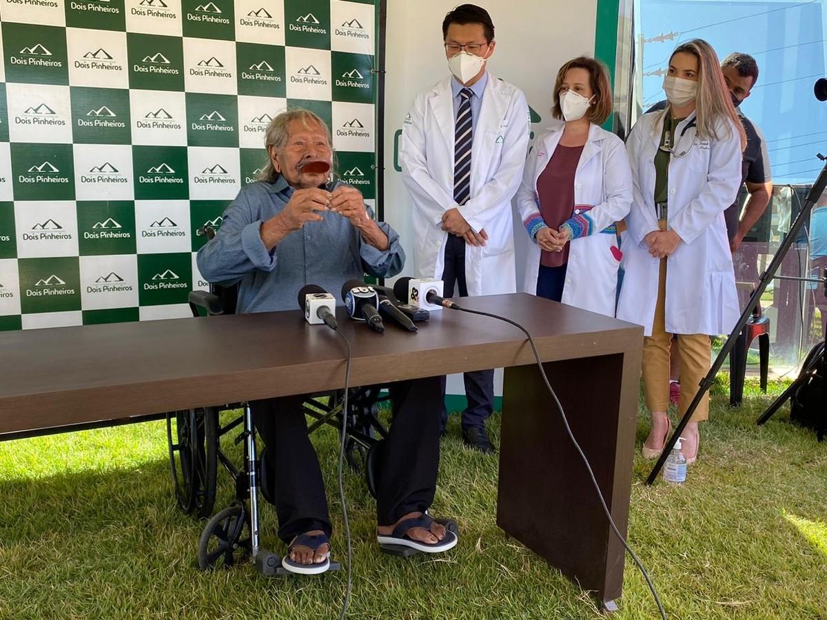 'Doença não marca dia', diz cacique Raoni que terá alta neste sábado após passar 9 dias internado em MT – G1