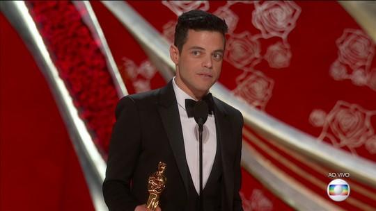 Rami Malek vence o Oscar de Melhor Ator por 'Bohemian Rhapsody'