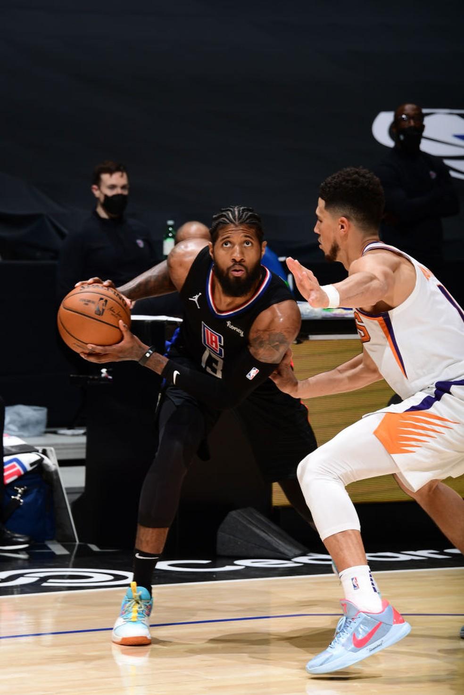 Focado e afiado, Paul George brilhou na vitória dos Clippers — Foto: Getty Image