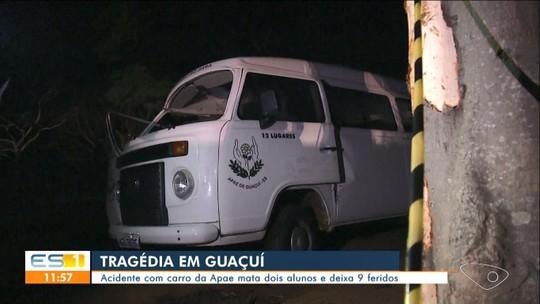 Três vítimas de acidente com Kombi da Apae em Guaçuí continuam internadas no ES