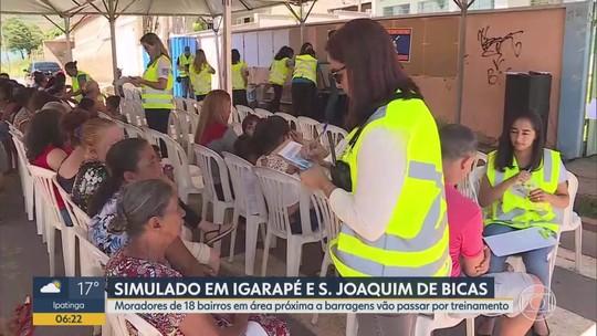 Moradores de Igarapé e São Joaquim de Bicas participam de simulado em caso de rompimento de barragem