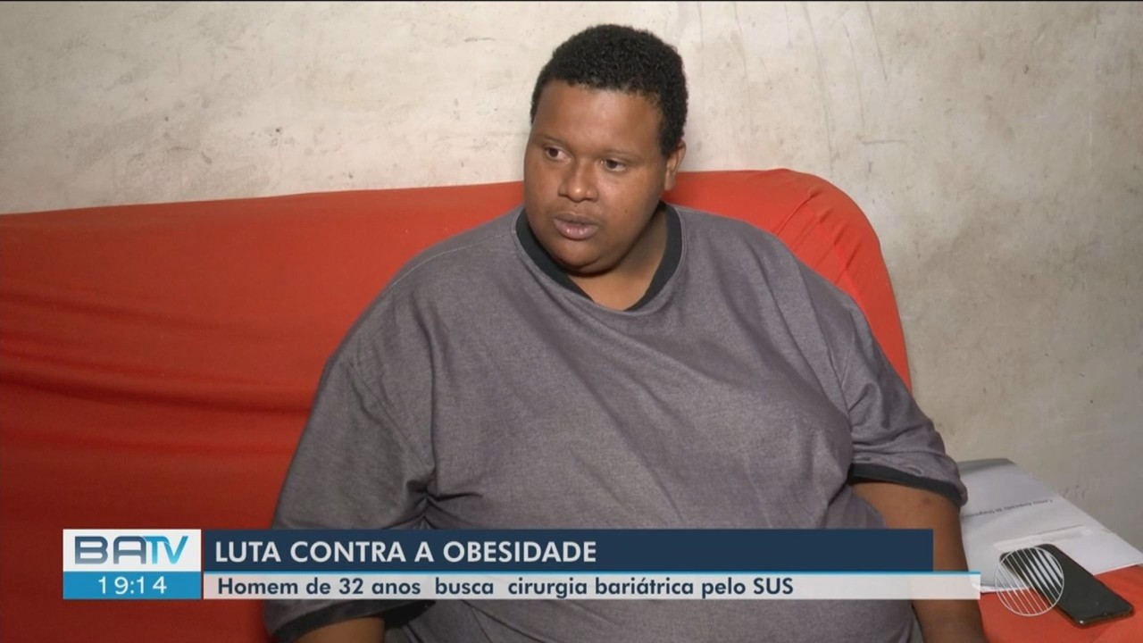 Homem que sofre com obesidade luta para conseguir realizar bariátrica pelo SUS