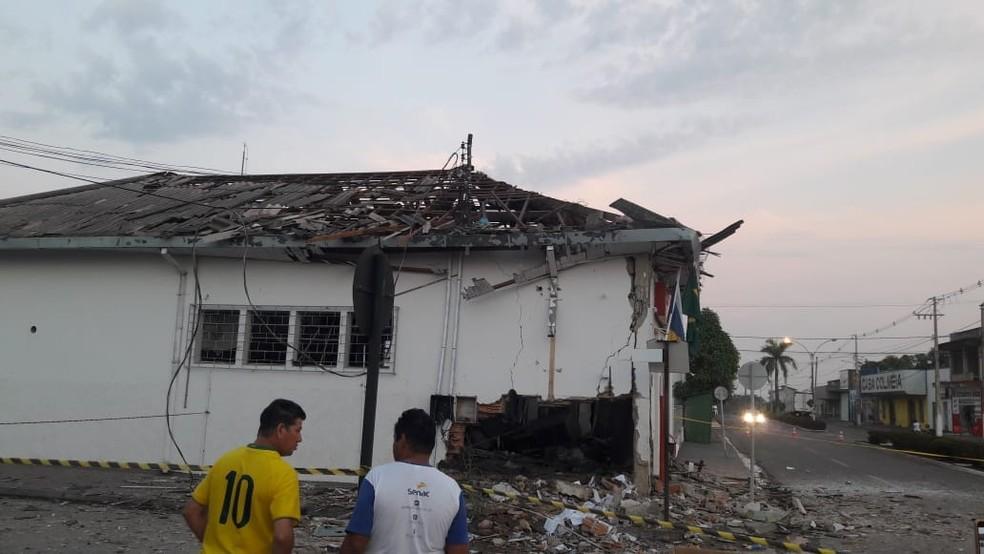 Explosão de agência amedrontou população de Colméia — Foto: Divulgação