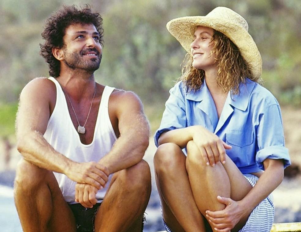 Carlos Alberto Riccelli e Vera Ficher em 'Riacho Doce' — Foto: Acervo/Globo